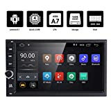 hizpo Android 8.1 Double Din DVD Player Head Unit 2GB RAM 16GB ROM 7 inch 2 DIN Touch Screen Support GPS WiFi DAB+ Android/iPhone Mirrolink Steering Wheel Control