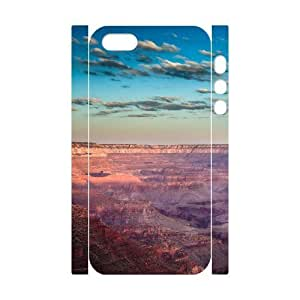3D For SamSung Galaxy S5 Phone Case Cover Grand Canyon USA Sunrise Hard Shell Back White For SamSung Galaxy S5 Phone Case Cover