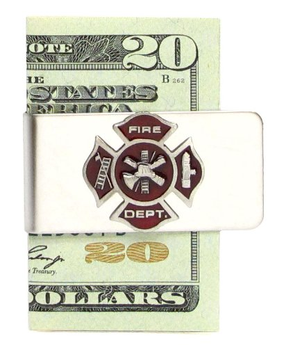 Maltese Money Clip (Sculpted Pewter Moneyclip - Fire Fighter Cross)
