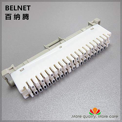 (Cables & Connectors BELNET 10 Pairs Telephone Module Spring Snaps into Wiring Module Krone Article Voice line Silver-Plated Copper Terminal Block - (Cable Length: 10pcs 1box))