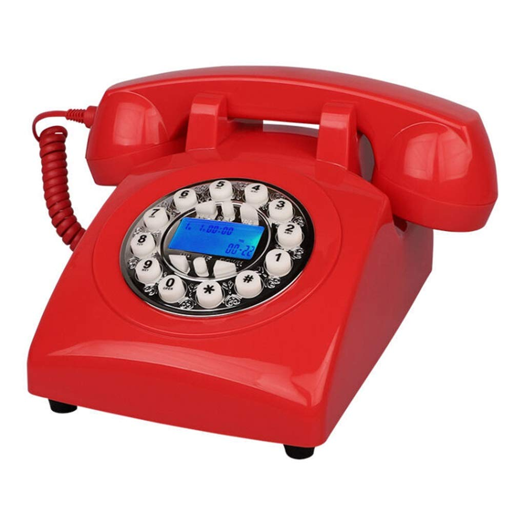 JGBHPNYX Classic Desk Phone with Rotary Dialler Retro Style Phone 23x13x11cm by JGBHPNYX