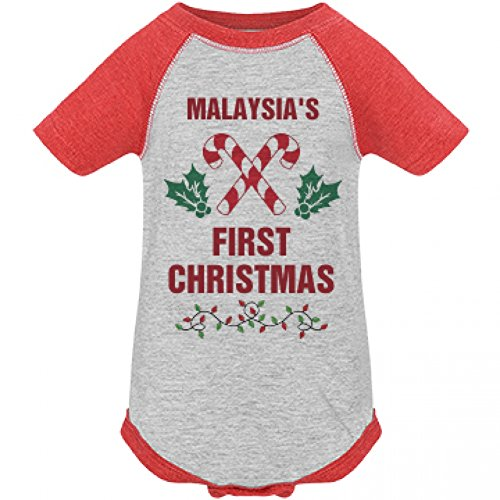 Malaysia's First Christmas Party: Infant LAT Vintage Raglan Bodysuit