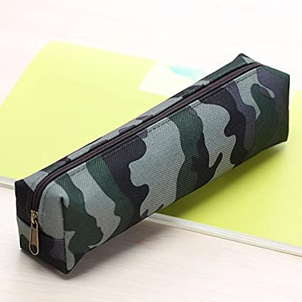 Estuche de Tela pequeño para lápices, Material Escolar con diseño de Camuflaje para Chicos y Chicas: Amazon.es: Electrónica