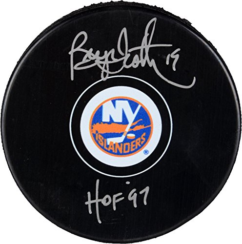 Hockey Autographs - Bryan Trottier New York Islanders Autographed Hockey Puck with