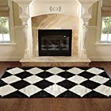 Best Home Fashion Faux Fur Rug - Checkerboard Review and Comparison