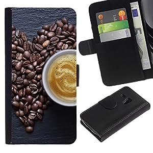 All Phone Most Case / Oferta Especial Cáscara Funda de cuero Monedero Cubierta de proteccion Caso / Wallet Case for Samsung Galaxy S3 MINI 8190 // Coffe Love