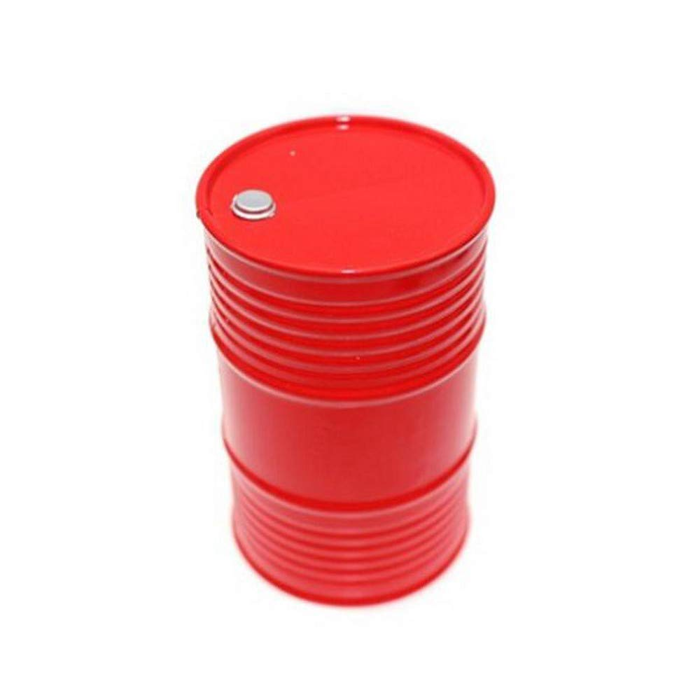 Hisoul RC Car Mini Oil Drum, 1:10 RC Crawler Accessories Oil Drum Fuel Tank Container for Axial SCX10 Assemblage and Decoration (red)