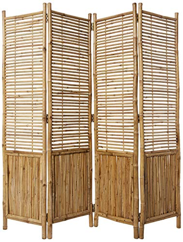 Master Garden Products Bamboo Self Standing 4 Panel Divider and Screen, 72 x 72, Tan