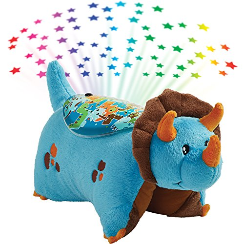 - Pillow Pets Sleeptime Lites Blue Dinosaur Stuffed Animal Plush Night Light