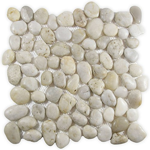 CNK Tile Polished White Pebble Tile 1 (Polished Pebble Tile)
