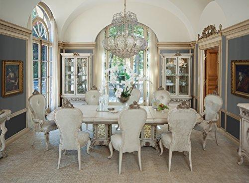 NEW 7pc Platine de Royale Rectangular Wood Dining Set by Michael Amini