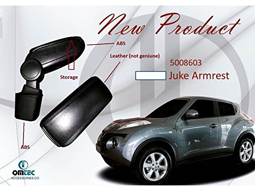 Juke the best amazon price in savemoney black leatherette armrest for nissan juke no cutting no drilling fandeluxe Gallery