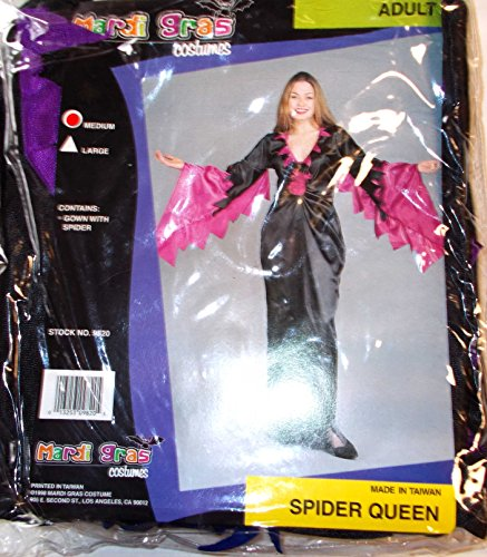 Spider Queen Black Purple Adult Costume Medium NIP