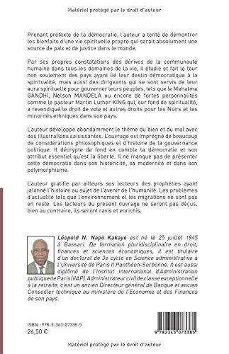 Réflexions spirituelles sur la démocratie: <Em>Essai</Em> (French Edition): Napo Nouitcha Léopold Kakaye: 9782343073385: Amazon.com: Books
