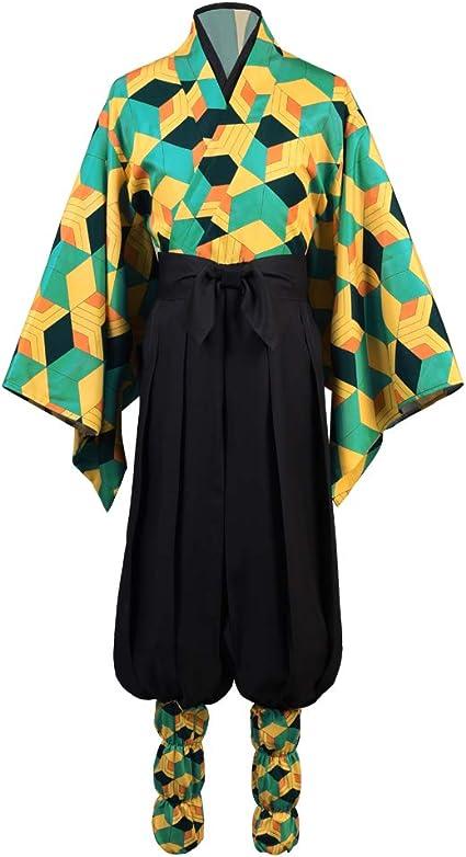 Details about  /Demon Slayer Kimetsu no Yaiba Sabito Cosplay Costume Uniform Kimono Outfit