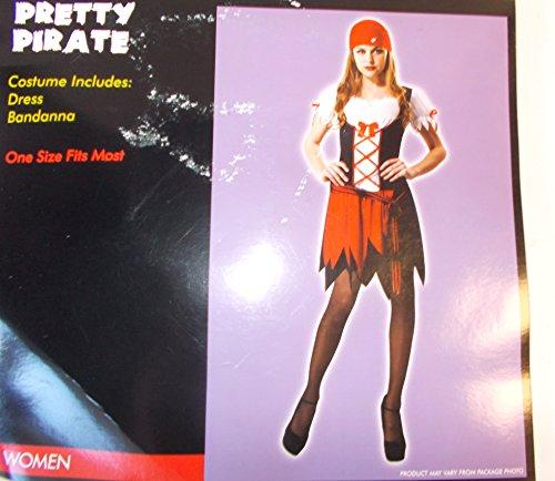 Pretty Pirate Adult Costume Dress Bandanna OSFM (Pirate Costume Kmart)