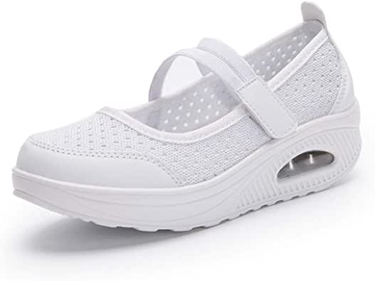gracosy Zapatos Malla Caminar Mujer 2020 Casual Sport Zapatillas de Correr Plataforma Antideslizante Ligero Zapatillas Transpirables Confort al Aire Libre: Amazon.es: Zapatos y complementos