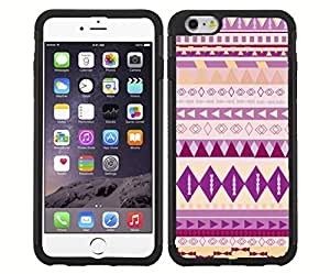 Colorful Purple and Pink Tribal Pattern RUBBER Snap on Phone Case (iPhone 6)