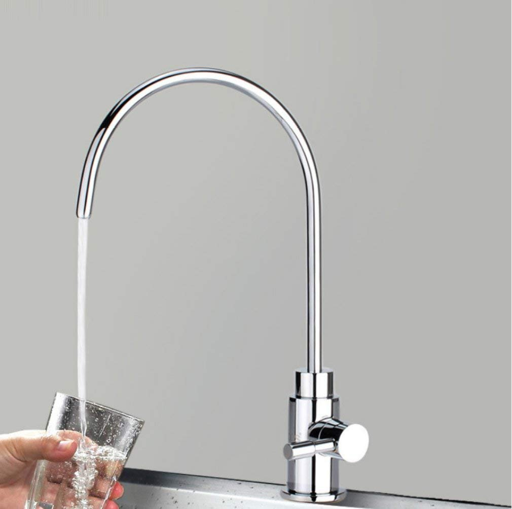 Full copper lead free drinking faucet Single cold big curved pure faucet Single cold 2 points 4 points universal