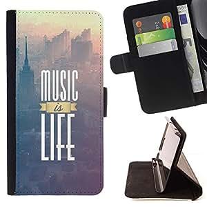 Momo Phone Case / Flip Funda de Cuero Case Cover - La música es vida impresiones;;;;;;;; - Apple Iphone 5 / 5S
