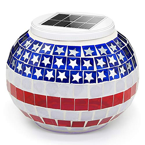 Red White Blue Led Lights Solar in US - 9