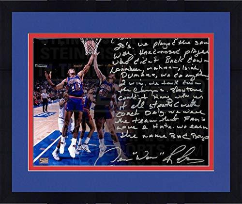 Framed Dennis Rodman Pistons Signed 16x20