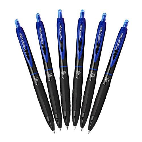 Uni-Ball 307 Retractable Gel Ink Pens, Medium Point 0.7mm, Pack of 6 (Gel Ink Pens Gel)