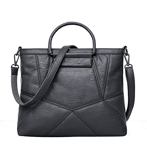 Elevata Grigio Spalla Elegante Donne Capacità Bag Messenger Delle Splicing Borsa qgZnxBaPw