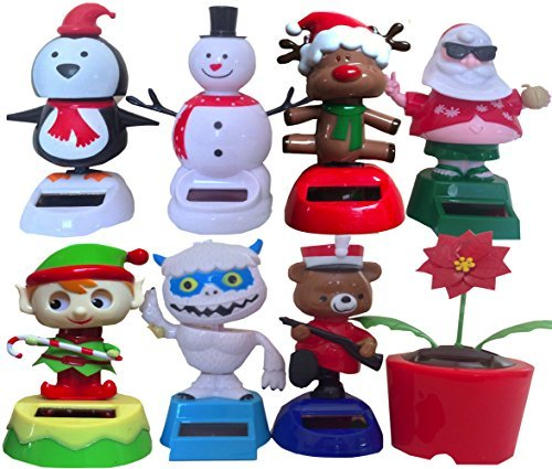 Christmas Rare Solar Dancing Toys Pack of 8