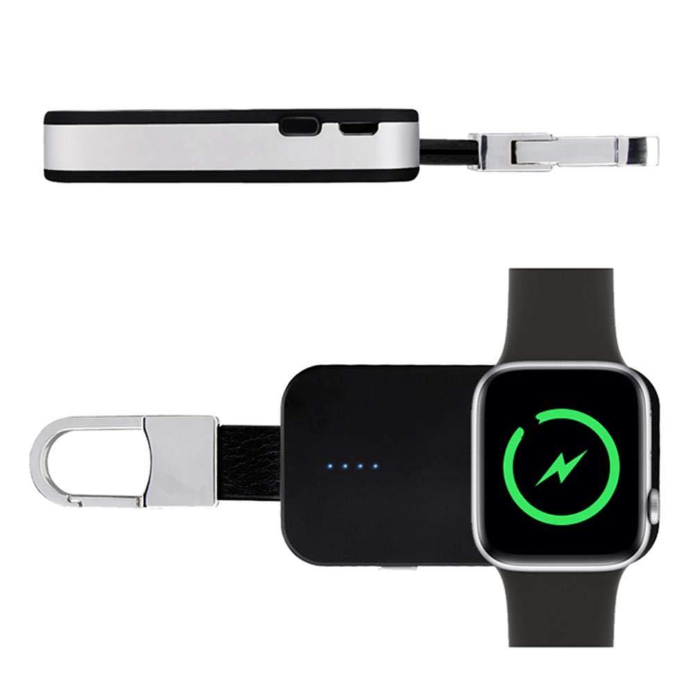 Pictury Chargeur sans Fil de Keychain portatif pour Le Chargeur magné tique de Montre de té lé phone construit dans la Puissance pour IWatch IPhone