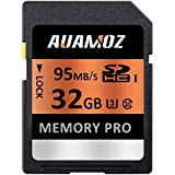 32GB SD Card, AUAMOZ Memory Pro Class 10 SDHC UHS-I Memory Card Camera, Camcorders Computer, U3 up to 95 MB/s, 10 Class SDHC UHS-I Card (Orange/Black)
