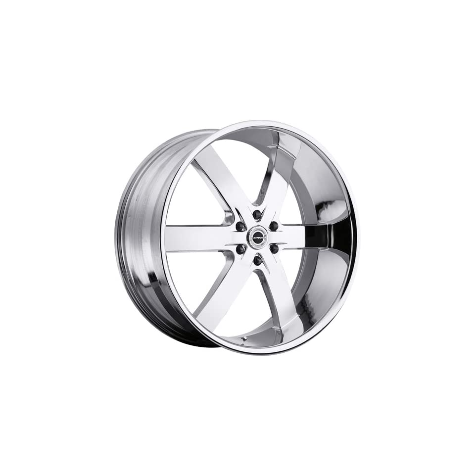 Strada Spago 26 Chrome Wheel / Rim 6x5.5 with a 33mm Offset and a 78.1 Hub Bore. Partnumber S27663933