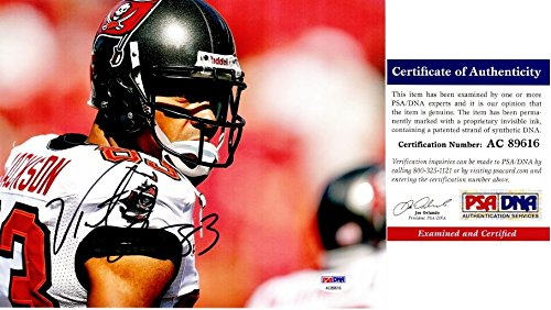 (Vincent Jackson Signed - Autographed Tampa Bay Buccaneers - Tampa Bay Bucs 8x10 inch Photo - PSA/DNA Certificate of Authenticity (COA))