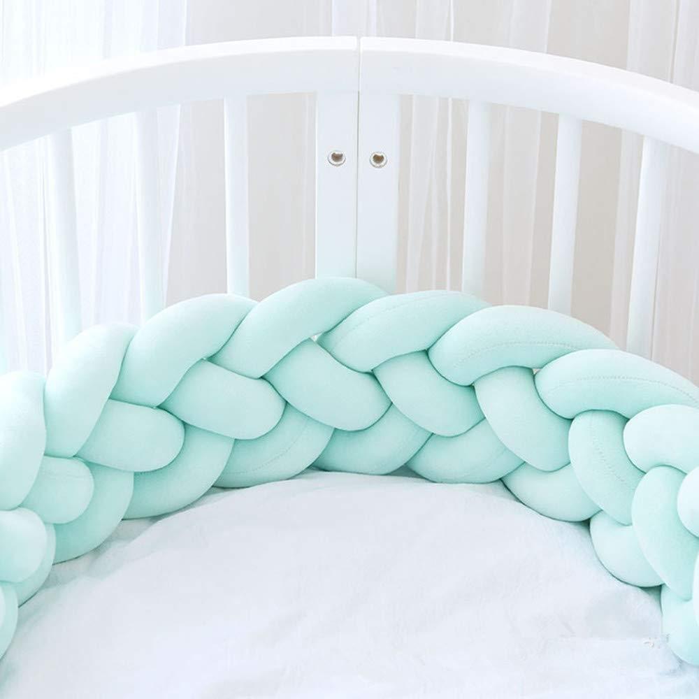 Parachoques de cama Trenzado hecho a mano Cuna Parachoques Beb/é Guardia Principal Parachoques Nudo Trenza Almohada Coj/ín Almohada Decorativa para Beb/é Guarder/ía Cuna ropa de cama Size : 1M