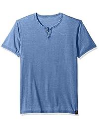 Lucky Brand Mens Standard Venice Burnout Notch Neck Tee Shirt