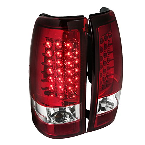 Spec-D Tuning LT-SIV99RLED-TM Chevy Silverado Red Led Tail Lights Lamps Pair