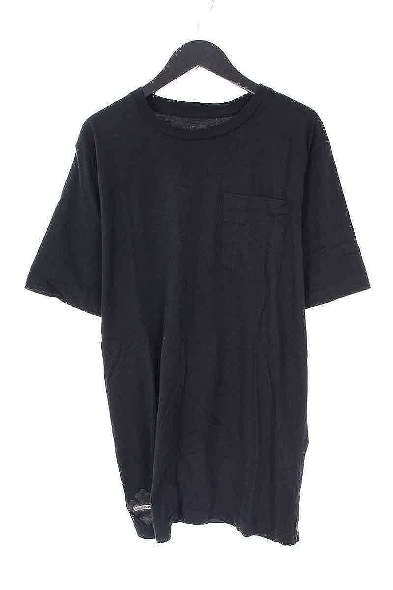 (クロムハーツ) Chrome Hearts レザープレート付きTシャツ(S/ブラック) 中古 B07F1JG5RR  -