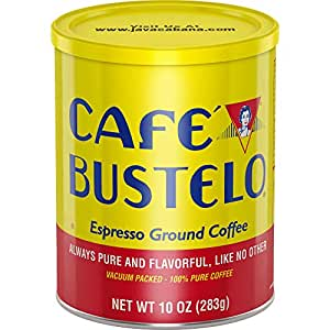 Café Bustelo Coffee Espresso Ground Coffee, 10 Ounces (Pack of 4)