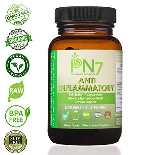 Cheap PN7 1200mg Organic Supplement. Boswellia Serrata, Turmeric, Peppermint, Ginger. 60 Vegan Capsules