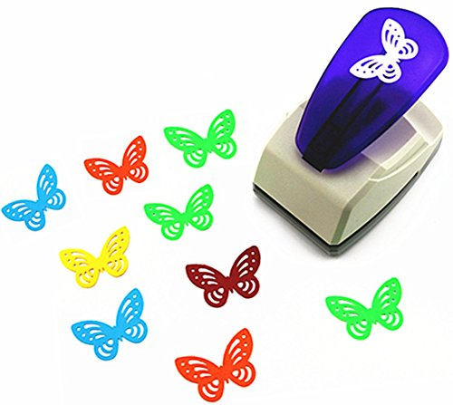 Butterfly Scrapbooking Paper - TECH-P Creative Life Crafts Engraving Hole Punch 2-Inch -DIY Paper Punch for Card Scrapbooking Craft Punch Embossing Border School Supplies. (Butterfly-1)