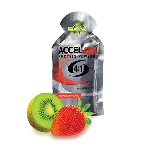 PacificHealth Accel Gel, All Natural Protein-Powered Rapid Energy Gel for Instant Energy During Intense Workouts – Box of 24, 1.3 Ounce Packets (Strawberry Kiwi) For Sale