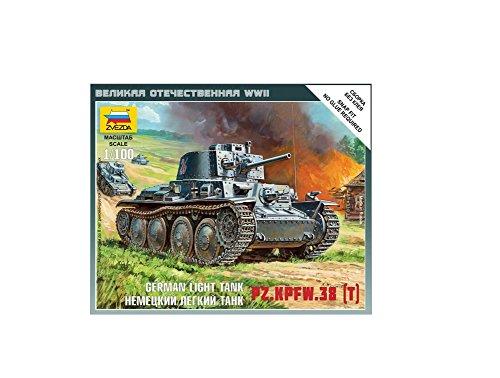 Zvezda Models 1/100 German 38t Tank Snap (Tank Kit)