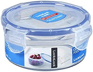 LOCK & LOCK Round Water Tight Food Container, Short (1.25-Cup)