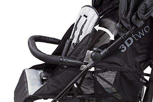 Summer Infant 3Dtwo Double Convenience Stroller, Gray Squared by Summer Infant (Image #5)