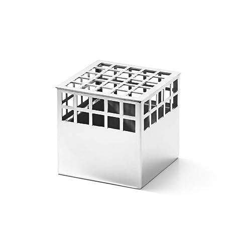 Amazon.com: Georg Jensen Matrix Cube Vase, Small, Stainless ...