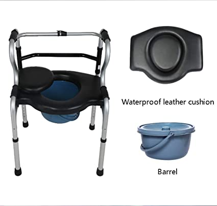 Amazon.com: Z&H Seniors Commode Chair and Padded Toilet Seat ...
