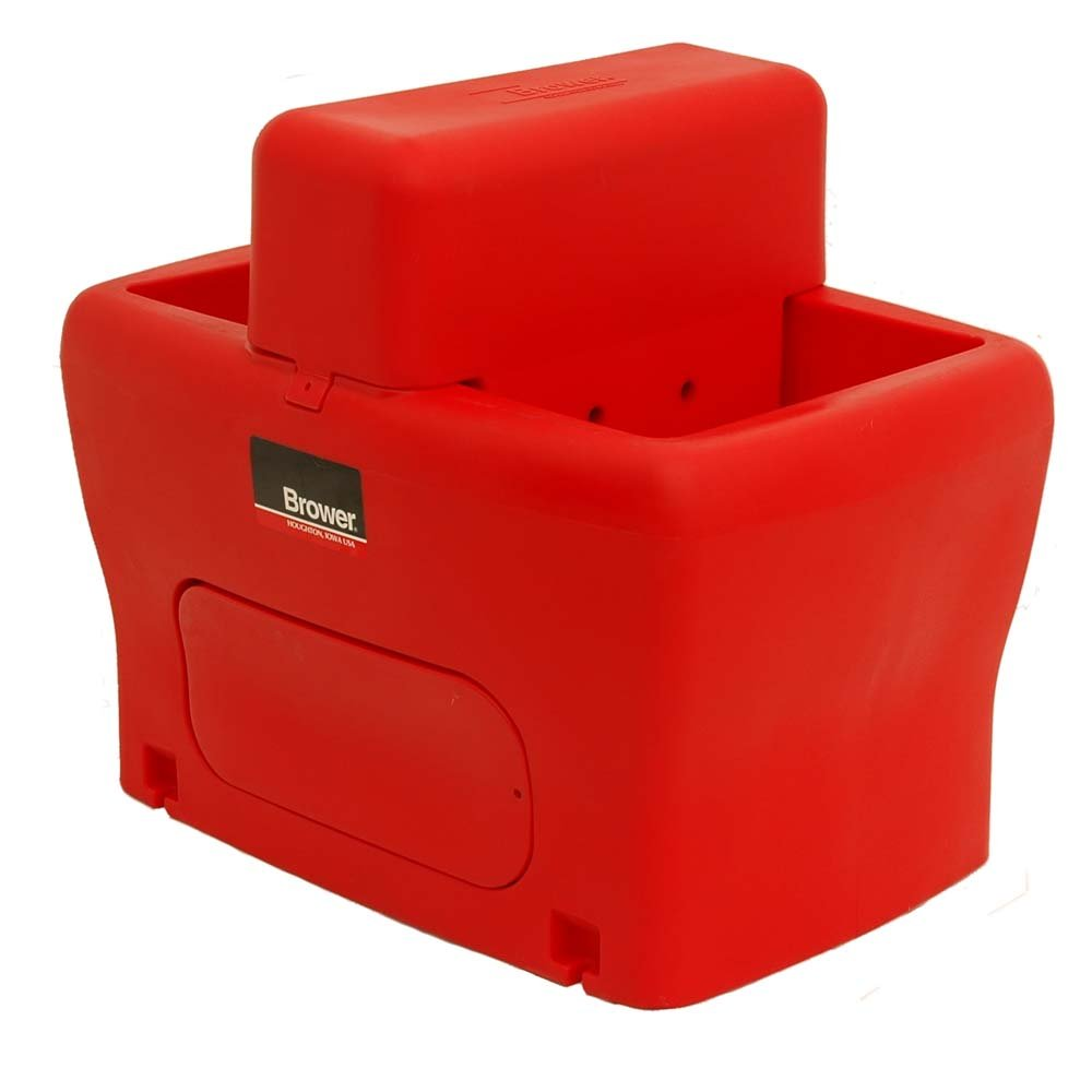 Brower MPO25E 25-Gallon Heated Poly Waterer, Red