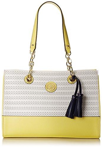 Anne Klein On The Horizon Tote Optic White Shoulder Bag Vanilla Multi One Size