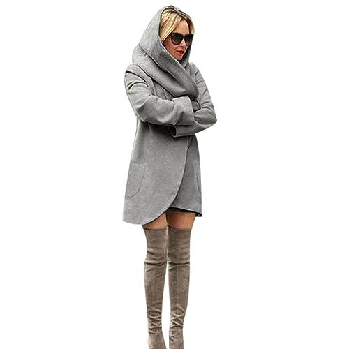 Coversolate Las mujeres de la manera adelgazan el abrigo largo Windbreaker de la chaqueta del abrigo...
