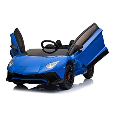 TOXOZERS Electric Kids Car 12V LED Light Ride on Car Truck with 2.4ghz Remote Control, MP3 Radio (Blue): Toys & Games